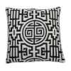 This item: Nobu Midnight and Snow 22 x 22 Inch Pillow with Welt