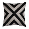 This item: Halo Black and Dove 22 x 22 Inch X-Stripe Pillow with Knife Edge