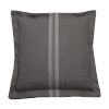 This item: Vintage Stripe Stone 22 x 22 Inch Pillow with Double Flange