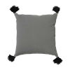 This item: Pewter Velvet and Black 22 x 22 Inch Pillow with Tassel