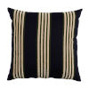 This item: Bradford Stripe Navy and Mallard 22 x 22 Inch Pillow with Knife Edge