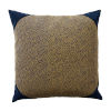 This item: Navy 22 x 22 Inch Pillow with Velvet Corner Cap