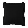 This item: Midnight 22 x 22 Inch Pillow with Linen Double Flange