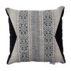 This item: Aztec Pewter and Midnight Velvet 22 x 22 Inch Pillow with Knife Edge