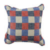 This item: Plaid Cajun and Indigo 22 x 22 Inch Pillow with Pinstripe Double Flange