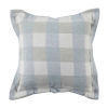 This item: Plaid Chambray 22 x 22 Inch Pillow with Pinstripe Double Flange