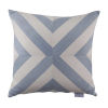 This item: Halo Chambray 22 x 22 Inch X-Stripe Pillow with Knife Edge