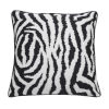 This item: Zebra Midnight 24 x 24 Inch Pillow with Welt