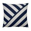 This item: Halo Indigo 24 x 24 Inch T-Stripe Pillow with Knife Edge