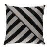 This item: Halo Black and Dove 24 x 24 Inch T-Stripe Pillow with Knife Edge