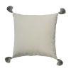 This item: Almond Velvet 24 x 24 Inch Pillow with Black Bullion