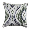 This item: Manado Ikat Pewter and Dove 24 x 24 Inch Pillow with Flat Welt