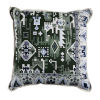 This item: Oushak Mallard and Dove 24 x 24 Inch Pillow with Linen Flat Welt