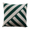 This item: Halo Mallard and Almond 24 x 24 Inch T-Stripe Pillow with Knife Edge