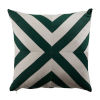 This item: Halo Mallard and Almond 24 x 24 Inch X-Stripe Pillow with Knife Edge