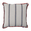 This item: Gingham Stripe Cajun 24 x 24 Inch Pillow with Flat Welt