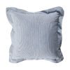 This item: Chambray and Snow 24 x 24 Inch Pillow with Linen Double Flange