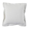 This item: Snow 24 x 24 Inch Pillow with Linen Double Flange