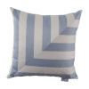 This item: Halo Chambray 24 x 24 Inch L-Stripe Pillow with Knife Edge