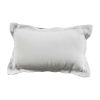 This item: Snow 14 x 24 Inch Pillow with Double Flange