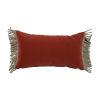 This item: Terra Cotta Velvet and Almond 14 x 24 Inch Pillow with Bullion