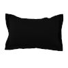 This item: Midnight 14 x 24 Inch Pillow with Linen Double Flange
