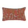 This item: Abstract Terra Cotta 14 x 24 Inch Pillow with Linen Flat Welt