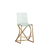 This item: Johnson Antique Gold and Clear Acrylic Counter Stool