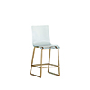 This item: King Antique Gold and Clear Acrylic Counter Stool