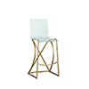This item: Johnson Antique Gold and Clear Acrylic Bar Stool