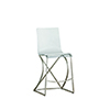 This item: Johnson Antique Silver and Clear Acrylic Counter Stool