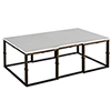 This item: Stevens White Seagrass and Antique Brass Coffee Table