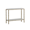 This item: Bryson White Seagrass and Brushed Brass Console Table