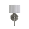 This item: Shirley Champagne Silver and Acrylic with White Linen Shade One-Light Wall Sconce
