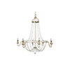 This item: Corinna Champagne Silver and Antique White Eight-Light Chandelier