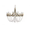 This item: Sandra Antique Gold and Antique White Twelve-Light Chandelier