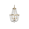 This item: Whitney Vintage Gold and Antique White Four-Light Chandelier