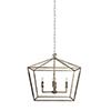This item: Amelia Antique Silver Leaf Four-Light Pendant