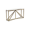 This item: Noah White Faux Bone and Antique Brass Console Table