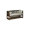 This item: Modena Natural Mindy and Beige Linen Bench