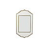 This item: Villa White Resin and Brushed Brass 26-Inch Mirror