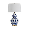 This item: Luca Blue and White Painted Ceramic and Antique Brass 10-Inch Table Lamp