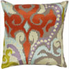 This item: Radiant Swirl Multicolor 20-Inch Pillow with Down Fill