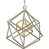 This item: Blair Silver and Gold One-Light Pendant