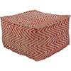 This item: Bodega Bright Red and Khaki Pouf