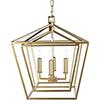 This item: Bellair Gold 24-Inch Four-Light Lantern Pendant