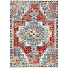 This item: Bohemian Bright Red and Teal Rectangular: 5 Ft. 3 In. x 7 Ft. 6 In. Rug