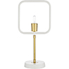 This item: Bowie Brass and White One-Light Table Lamp