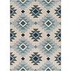 This item: City Aqua and Beige Rectangular: 5 Ft. 3 In. x 7 Ft. 3 In. Rug
