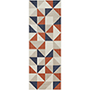 This item: City Coral and Charcoal Runner: 2 Ft. 7 In. x 7 Ft. 3 In. Rug